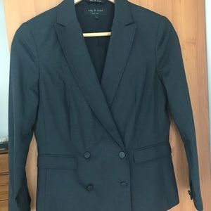 Rag & Bone Double Breasted Grey Wool Blazer Size 4